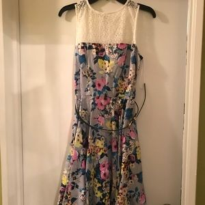 Floral Print Dress - Size 10